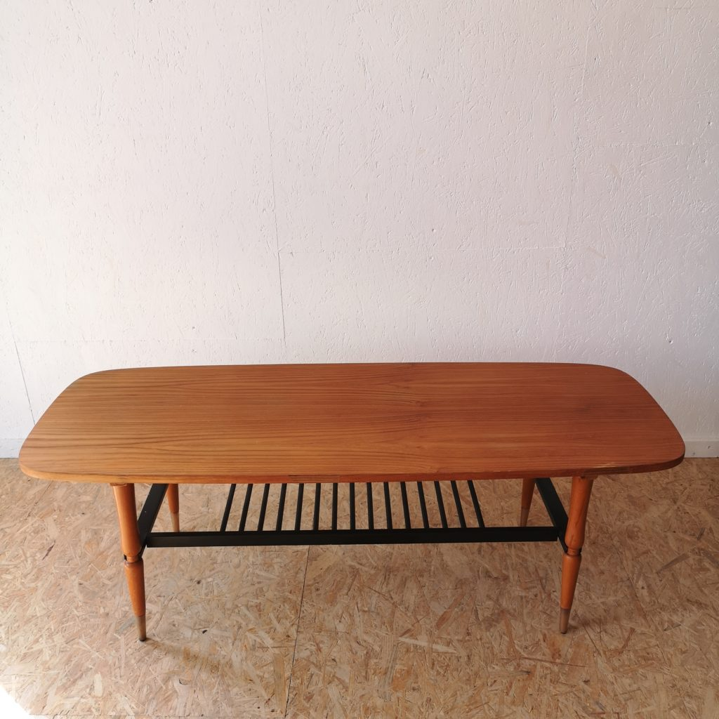 Basse Côteamp; Teck Table Années 60 Vintage b7yYf6gv